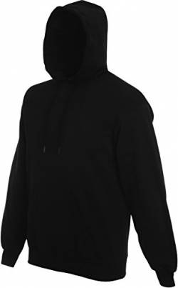 Fruit of the Loom Herren Kapuzenpullover/Hoodie / Kapuzensweater (L) (Schwarz) von Fruit of the Loom