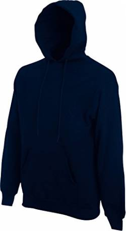 Fruit of the Loom Herren Hooded Sweat Kapuzenpullover, Blau (Deep Navy 202), X-Large von Fruit of the Loom