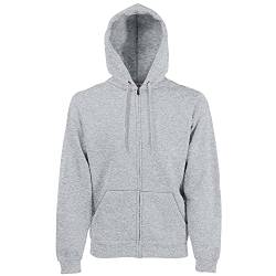 Fruit Of The Loom Herren Premium Kapuzen Sweater Jacke, Grau (Anthrazit), Gr. XL von Fruit of the Loom