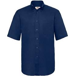 "Fruit of the Loom Herren Oxford Businesshemd Oxford Short Sleeve, Blau (Navy 32), Large (Herstellergröße: 16"") von Fruit of the Loom"