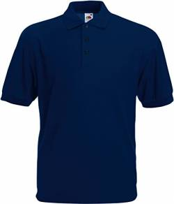 Fruit of the Loom Herren Poloshirt 65/35 Polo Blau (Navy 200) X-Large von Fruit of the Loom