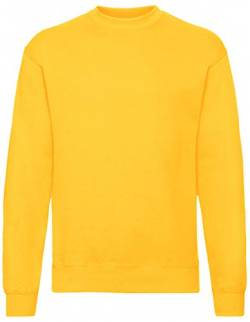 Fruit of the Loom Herren Set In Sweat Sweatshirt, Yellow (Sunflower Yellow), X-Large von Fruit of the Loom