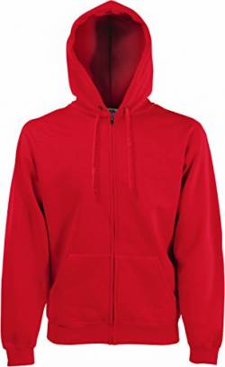 Fruit of the Loom Herren Sweatjacke Classic Hooded 62-062-0 Red L von Fruit of the Loom
