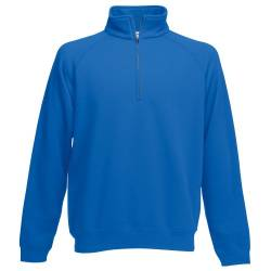 Fruit of the Loom Herren Sweatshirt Classic Zip Neck Sweat 62-114-0 Royal S von Fruit of the Loom