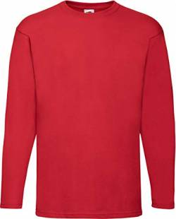Fruit of the Loom Herren Value Weight LS T T-Shirt, Rot (Red 400), XX-Large von Fruit of the Loom