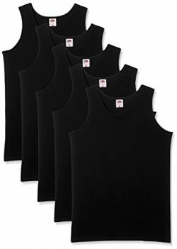 Fruit of the Loom Herren 5-Pack Athletic Mens Unterhemd, schwarz, XX-Large (5erPack von Fruit of the Loom