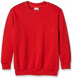 Fruit of the Loom Jungen Regular Fit Sweatshirt, Rot (Rot 40), Gr. 152 CM (Herstellergröße: 12/13 Jahre ) von Fruit of the Loom
