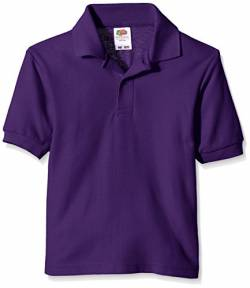 Fruit of the Loom Jungen T-Shirt Pique Polo, Violett (Violett), Gr. 12-13 Jahre von Fruit of the Loom
