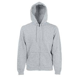 Fruit of the Loom - Kapuzen Sweat-Jacke 'Hooded Zip' XXL,Heather Grey von Fruit of the Loom