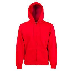 Fruit of the Loom - Kapuzen Sweat-Jacke 'Hooded Zip' XXL,Red von Fruit of the Loom