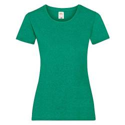 Fruit of the Loom - Lady-Fit T-Shirt 'Valueweight T' / Retro Heather Green, XL von Fruit of the Loom