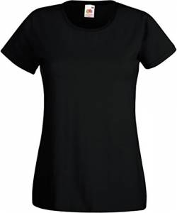 Fruit of the Loom - Lady-Fit Valueweight T - Modell 2013 M,Black von Fruit of the Loom