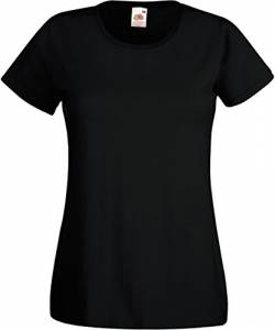 Fruit of the Loom - Lady-Fit Valueweight T - Modell 2013 S,Black von Fruit of the Loom