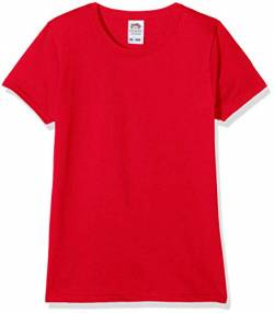 Fruit of the Loom Mädchen T-Shirt Valueweight, 5-er pack, Rot (Red 40), Gr. 9-11 Jahre (140 cm) von Fruit of the Loom