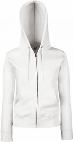 Fruit of the Loom Premium Hooded Sweatjacke Lady-Fit - Farbe: White - Größe: L von Fruit of the Loom