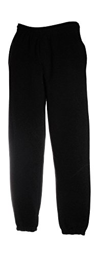 Fruit of the Loom Premium Elasticated Cuff Jog Pants Schwarz Black XXL von Fruit of the Loom