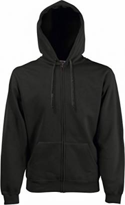 Fruit of the Loom: Hooded Zip Sweat 62-034-0, Größe:S;Farbe:Charcoal von Fruit of the Loom