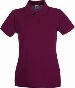 Fruit of the Loom: Lady-Fit Premium Polo 63-030-0, Größe:XL (16);Farbe:Burgundy von Fruit of the Loom