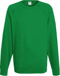 Fruit of the Loom: Lightweight Raglan Sweat 62-138-0, Größe:2XL;Farbe:Kelly Green von Fruit of the Loom