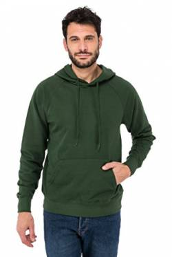 Fruit of the loom Herren Kapuzenpullover Hooded Sweat 62 - 208 - 0, Gr. Large, Grün (Bottle Green 38) von Fruit of the Loom