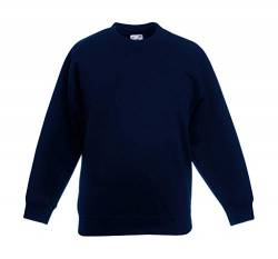 Fruite of the Loom Kinder Sweatshirt, vers. Farben 128,Deep Navy von Fruit of the Loom