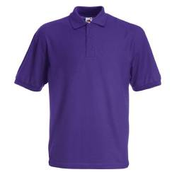 Fruit of the Loom Pique Polo 65/35 T-Shirt Violett S von Fruit of the Loom
