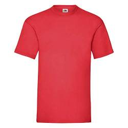 Fruit of the Loom Valueweight T-Shirt Rot S von Fruit of the Loom