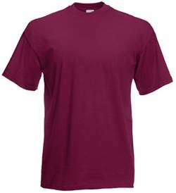 Fruit of the Loom Valueweight T-Shirt Burgund XL von Fruit of the Loom