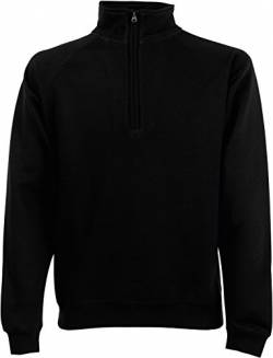 Fruit of the Loom Zip-Neck Sweat Schwarz M von Fruit of the Loom