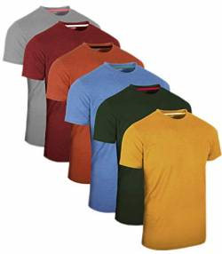 Full Time Sports® 3 4 6 Pack Assorted Langarm-, Kurzarm Casual Top Multi Pack Rundhals T-Shirts (X-Large, 6 Pack - Pastels Assorted) von Full Time Sports