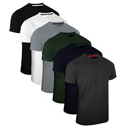 Full Time Sports 6 Pack Sortiert Rundhals Tech T-Shirts (1) Large von Full Time Sports