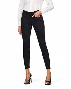 G-STAR RAW Damen Arc 3D Mid Skinny Wmn Jeans, Pitch Black B964-A810, 27W / 30L von G-STAR RAW