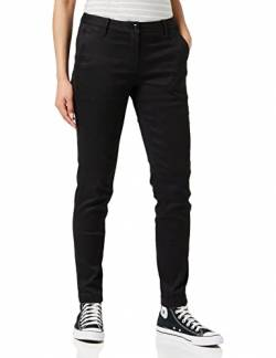 G-STAR RAW Damen Bronson Mid Waist Skinny Chino Hose, Schwarz (raw Pressed 6960-5185), 24W / 32L von G-STAR RAW