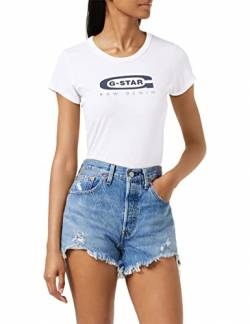 G-STAR RAW Damen T-Shirt Graphic 20 Slim R TWmn s/s, Weiß (White 110), XX-Small von G-STAR RAW