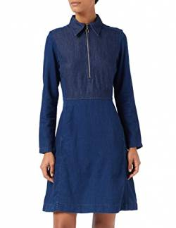 G-STAR RAW Damen Core Slim Flare Dress Kleid,,per pack Blau (rinsed 082), Blau (rinsed 082) von G-STAR RAW