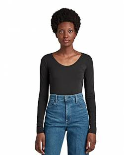 G-STAR RAW Damen Langarm Top Base R T Wmn L/S Langarm Top, Grau (Black 990), XX-Large von G-STAR RAW