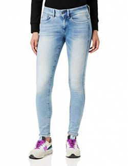 G-STAR RAW Damen Lynn Mid Waist Skinny Jeans, Blue Sun Faded Blue, 27W / 34L von G-STAR RAW