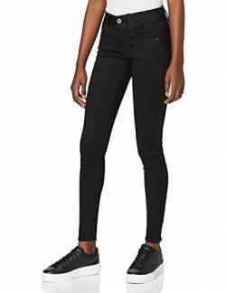 G-STAR RAW Damen Lynn Mid Waist Super Skinny Jeans, Schwarz (Pitch Black 9142-A810), 26W / 32L von G-STAR RAW