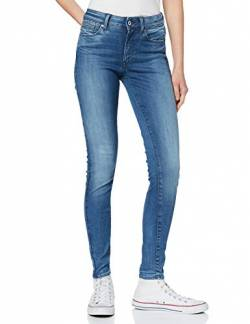 G-STAR RAW Damen Shape High Waist Super Skinny Jeans, Blau (medium Aged 9425-071), 25W / 32L von G-STAR RAW