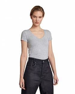 G-STAR RAW Damen T-Shirt Base V T Wmn Cap Sl, Grau (Grey Htr 906), X-Small von G-STAR RAW