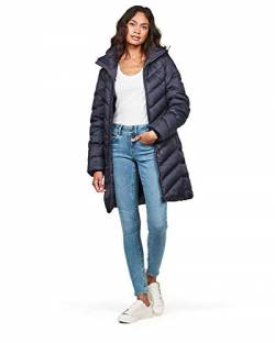 G-STAR RAW Damen Mantel Whistler Slim Down Hooded Long Mantel, Blau (Sartho Blue 6067), X-Small von G-STAR RAW