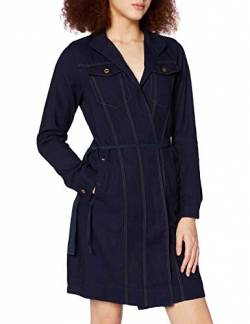 G-STAR RAW Damen Wrap Long Sleeve Kleid, Blau (Rinsed C076-082), Small (Herstellergröße:S) von G-STAR RAW