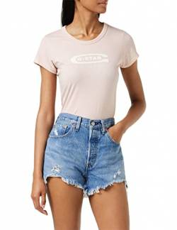 G-STAR RAW Damen T-Shirt Graphic 20 Slim R TWmn S\s, Rosa (Pyg Pink (Pink 7176)), X-Small von G-STAR RAW