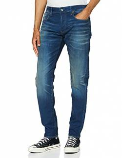 G-STAR RAW Herren 3301 Fit Slim Jeans, Blau (Worker Blue Faded A088-A888), 29W / 32L von G-STAR RAW