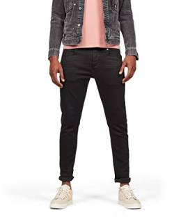 G-STAR RAW Herren 3301 Slim Fit Jeans, Pitch Black B964-A810, 34W / 34L von G-STAR RAW