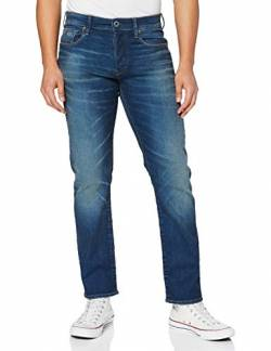 G-STAR RAW Herren 3301 Straight Jeans, Blau (Worker Blue Faded A088-A888), 29W / 32L von G-STAR RAW