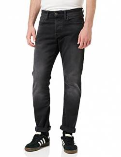 G-STAR RAW Herren 3301 Straight Tapered Fit Jeans, Schwarz (Faded Charcoal B455-A797), W30/L32 (Herstellergröße: 30W/ L32) von G-STAR RAW