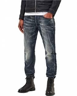 G-STAR RAW Herren 3301 Tapered Jeanshose, Blau (Dk Aged 89), W30/L32 von G-STAR RAW