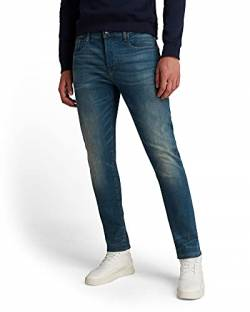 G-STAR RAW Herren 3301 Slim Jeans, Blue (Medium Aged 9118-071), 40W / 36L von G-STAR RAW