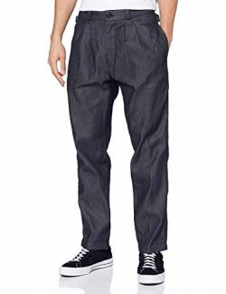 G-STAR RAW Mens Varve Pleated Relaxed Casual Pants, raw Denim C518-001, 32W / 32L von G-STAR RAW
